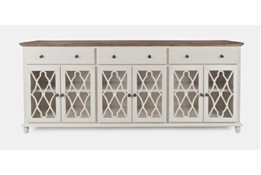 Farrington White 86 Inch 6 Door Sideboard