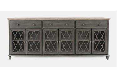 Farrington Grey 86 Inch 6 Door Sideboard