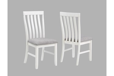 Westshore Grey And White Side Chair