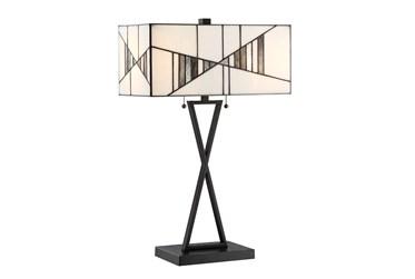 13 Inch Tiffany Glass Shade Table Lamp