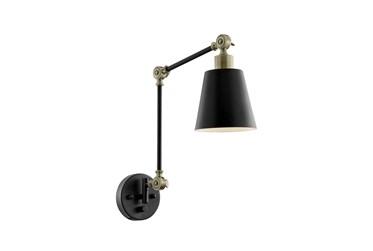 23 Inch Black Metal Task Wall Lamp