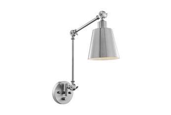 23 Inch Brushed Nickel Metal Task Wall Lamp