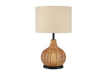 28.5 Rattan Table Lamp