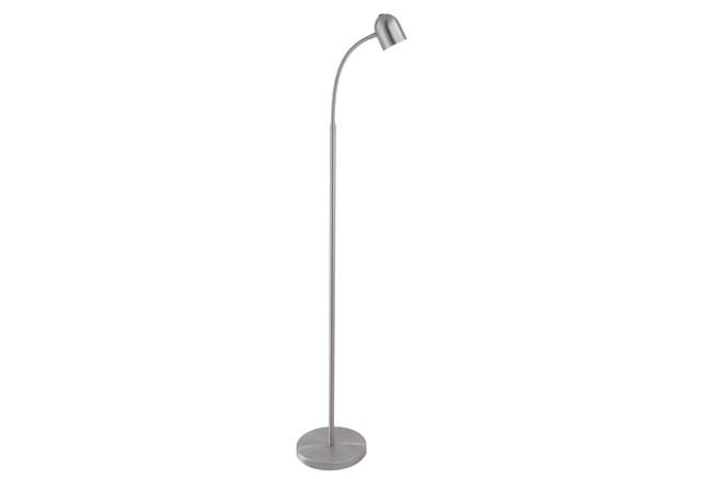 51 Inch Led Brushed Nickel Lamp Task Floor Lamp  - 360