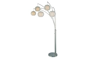 90 Inch 5-Lite Arch Lamp With White Shade