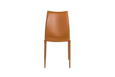 Wesson Cognac Faux Leather Stacking Side Chair - Set Of 2