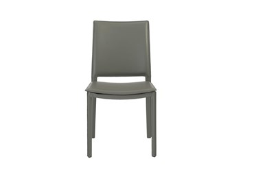 Redick Dark Grey Faux Leather Side Chair - Set Of 2