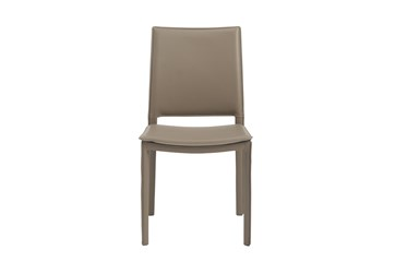 Redick Taupe Faux Leather Side Chair - Set Of 2