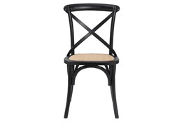 Landry Black And Natural Rattan Side Chair - Set Of 2