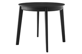 Weber Matte Black 36 Inch Round Dining Table