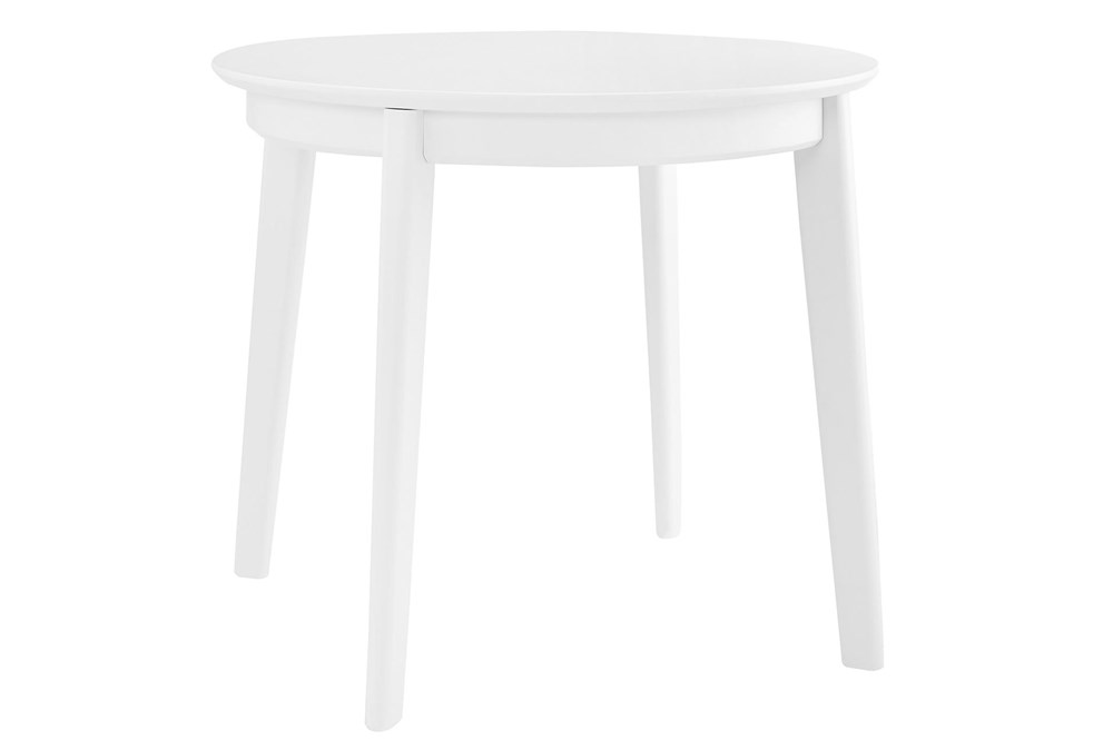 Weber Matte White 36 Inch Round Dining Table