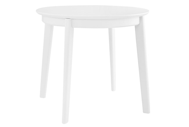 Weber Matte White 36 Inch Round Dining Table - 360