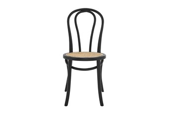 Wilson Matte Black And Natural Side Chair - Set Of 2
