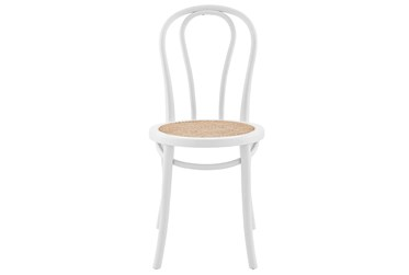 Wilson Matte White And Natural Side Chair - Set Of 2