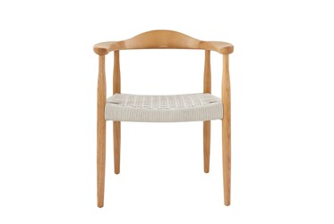 Zamani Nautral And White Rope Armchair