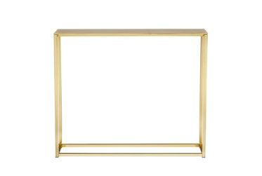 Wilken Matte Brushed Gold 36 Inch Console Table