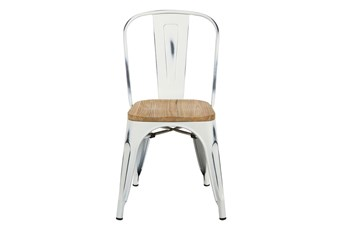 Weisman Antique White And Natural Stacking Side Chair - Set Of 4