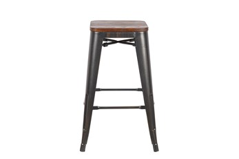 Weisman Antique Black And Walnut 26 Inch Counter Stool - Set Of 4