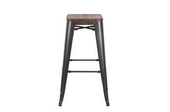 Weisman Antique Black And Walnut 30 Inch Bar Stool - Set Of 4