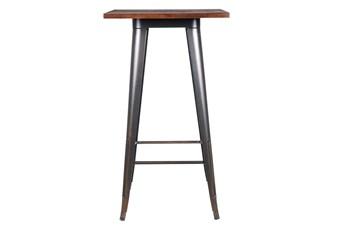 Weisman Antique Black And Walnut 41 Inch Bar Table