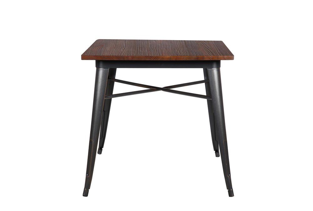 Weisman Antique Black And Walnut 32 Inch Square Dining Table