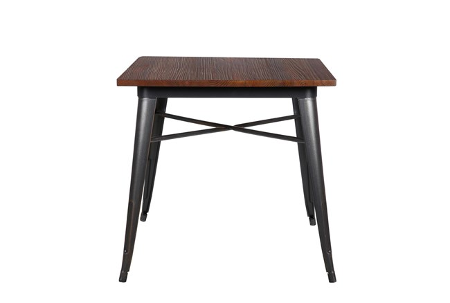 Weisman Antique Black And Walnut 32 Inch Square Dining Table - 360