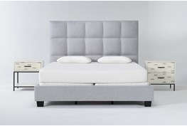 Boswell 3 Piece Eastern King Upholstered Bedroom Set With Elden 2 Drawer Nightstand + 1 Drawer Nightstand