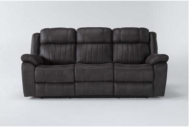 "Olympus Dark Brown 90"" Power Reclining Sofa With Power Headrest & Usb"