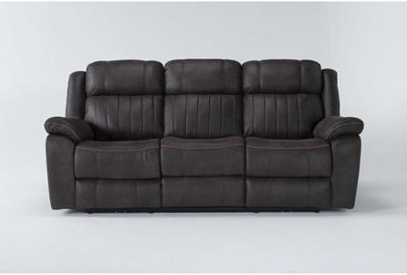 Olympus Dark Brown Power Reclining Sofa With Power Headrest & Usb - Main