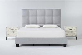 Boswell 3 Piece California King Upholstered Storage Bedroom Set With 2 Elden 2 Drawer Nightstands