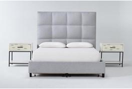 Boswell 3 Piece Queen Upholstered Storage Bedroom Set With 2 Elden 1 Drawer Nightstands