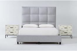 Boswell 3 Piece Queen Upholstered Storage Bedroom Set With 2 Elden 2 Drawer Nightstands