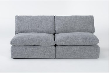 """Jil Grey 82"""" 2 Piece Armless Apartment Sofa"""
