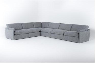 "Jil Grey 168"" 6 Piece Sectional"