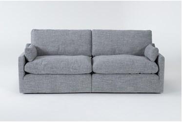 """Jil Grey 90"""" 2 Piece Apartment Sofa"""