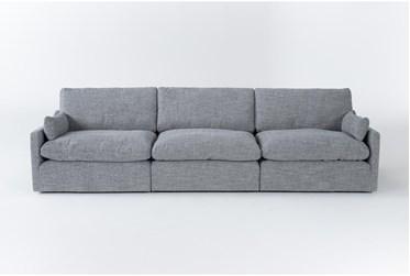 "Jil Grey 131"" 3 Piece Sofa"
