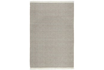 5'X8' Rug- Natural And Ivory Woven Bold Geometric