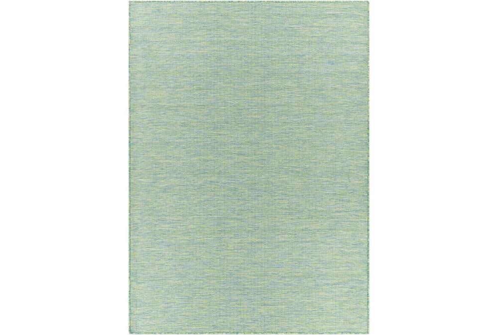 """2'5""""X7'3"""" Outdoor Rug-Sky Blue & Grass Green Modern Mottled"""