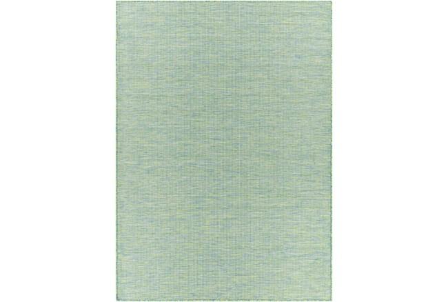 """2'5""""X7'3"""" Outdoor Rug-Sky Blue & Grass Green Modern Mottled - 360"""