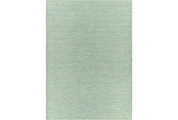 """6'3""""X9' Outdoor Rug-Sky Blue & Grass Green Modern Mottled"""
