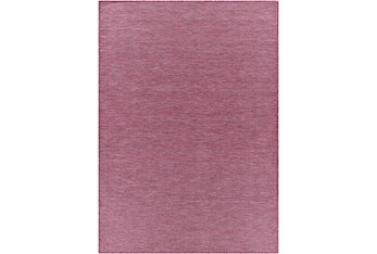 "2'5""X7'3"" Outdoor Rug-Bright Pink Modern Mottled"