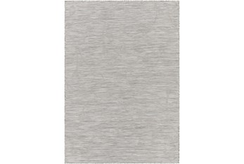 """7'7""""X10' Outdoor Rug-Taupe, Cream Mottled Leaves"""