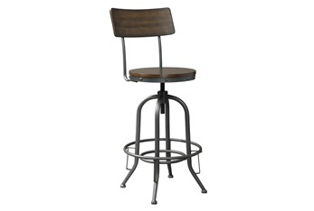 Otis Adjustable Swivel Bar Stool Set Of 2