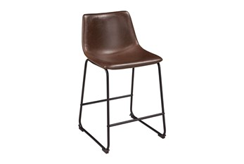 Edison Brown 24 Inch Counter Stool Set Of 2