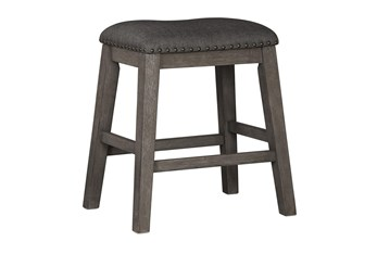 Cate Antique Gray Backless 24 Inch Counter Stool Set Of 2