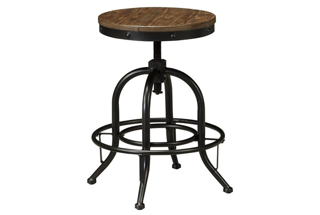 Pathway Backless Adjustable Swivel 24 Inch Counter Stool Set Of 2 - 360