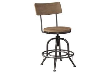 Pathway Wood Seat Adjustable Swivel 24 Inch Counter Stool Set Of 2