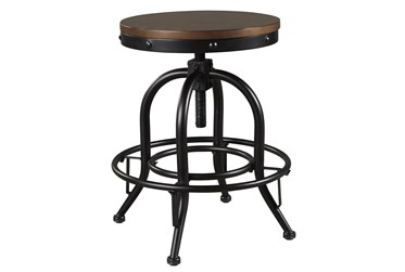 Emerson Brown Backless Adjustable Swivel 24 Inch Counter Stool Set Of 2