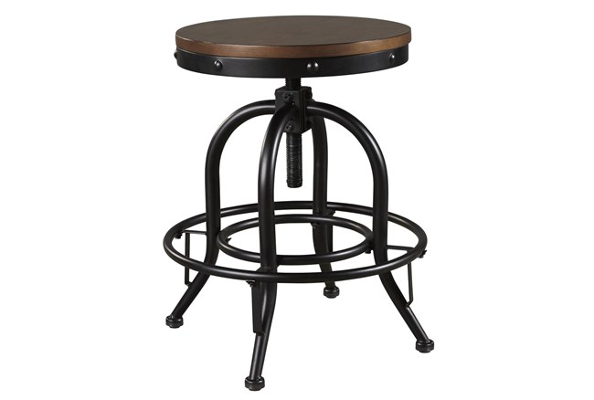 Emerson Brown Backless Adjustable Swivel 24 Inch Counter Stool Set Of 2 - 360
