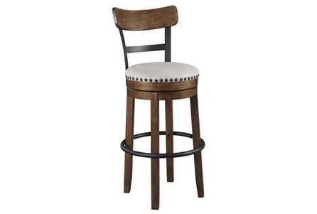Emerson Brown Upholstered Swivel 30 Inch Bar Stool - Main